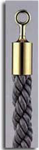 カラーロープ Bタイプ Φ30mm フック:ゴールド ロープ:グレー 日本製 国産 送料無料 代引手数料無料 ガイドロープ Uフック用 120cm 取付簡単 仕切り