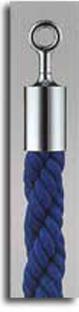 カラーロープ Bタイプ Φ25mm フック:シルバー ロープ:ブルー 日本製 国産 送料無料 代引手数料無料 ガイドロープ Uフック用 120cm 取付簡単 仕切り