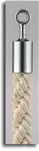 カラーロープ Bタイプ Φ25mm フック:シルバー ロープ:ホワイト 日本製 国産 送料無料 代引手数料無料 ガイドロープ Uフック用 120cm 取付簡単 仕切り