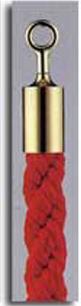 カラーロープ Bタイプ Φ25mm フック:ゴールド ロープ:レッド 日本製 国産 送料無料 代引手数料無料 ガイドロープ Uフック用 赤 黄 青 グレー 白(全5色 )120cm 取付簡単 仕切り