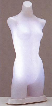 ST571 Lady's 日本製 国産 送料無料 代引き手数料無料 光効果で商品が中から際立つ! 電飾トルソー マネキン レディース ボディ 高さ 93cm ディスプレイ 高級 スタイリッシュ デパート アパレル 什器