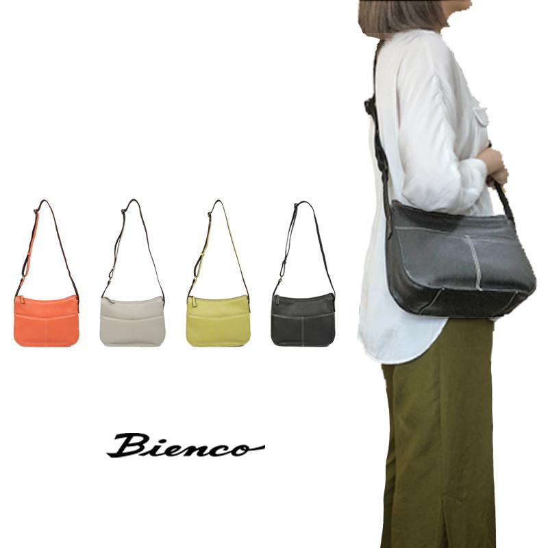 【Bienco ビアンコ】牛革ショールダーバッグレディース バッグ ショルダー 斜め掛け カラーバリエーション 日本製