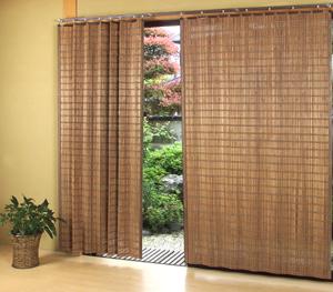燻製竹カーテン BW-905SW200 x H135cm【smtb-k】【ky】