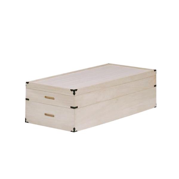 送料無料 桐製 衣装箱 2段 日本製 国産 桐無垢 着物収納 湿気対策 伝統工芸