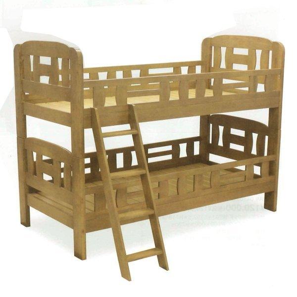 送料無料 2段ベッド 天然木 ブラウン色 シンプルデザイン 勉強 新入学 子供 02P05Sep15