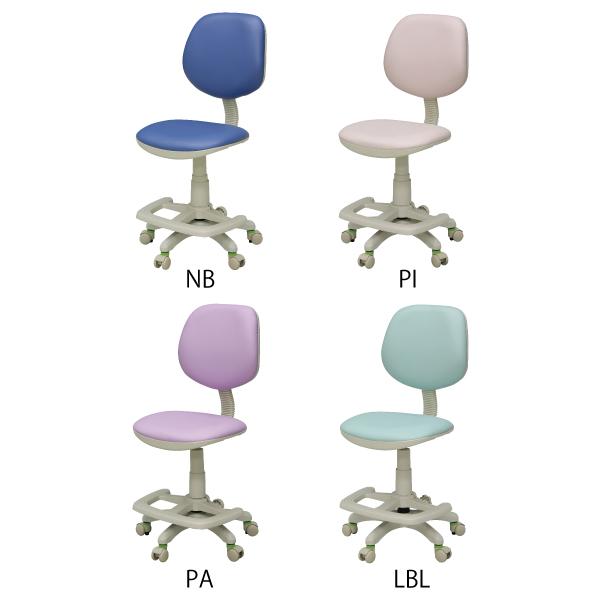 学習チェア 4色 PVC生地 椅子 子供用 キャスター 座面スライド 合皮 02P05Sep15