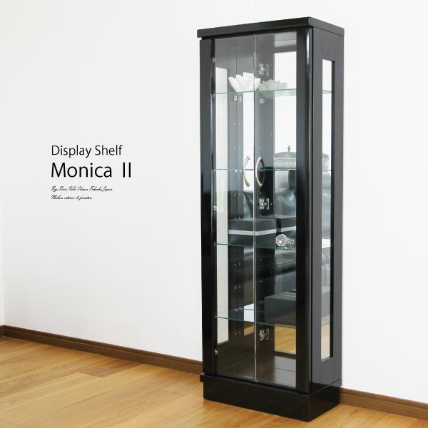 送料無料 50幅コレクションボード ブラック色エナメル塗装 鏡面 飾棚 キュリオケース 収納