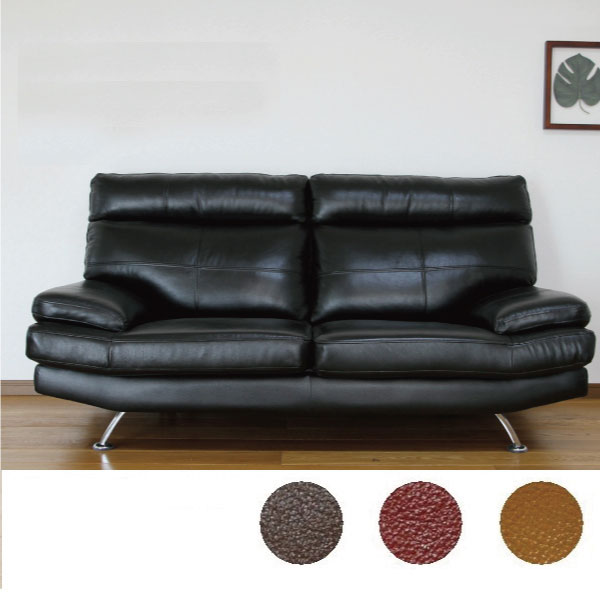 2pcs. sofa modern design three colors for leather classic style modern 2.5  three-seat-back detachable steel legs 02P05Sep15