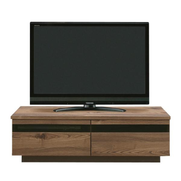 送料無料 120幅 テレビボード 木目柄 日本製 国産 TVボード テレビ台 引出し フルオープンレール ブラウン色