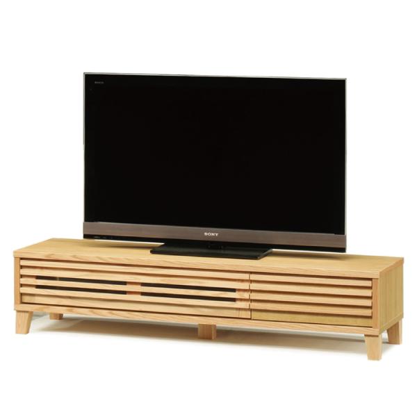 送料無料 153幅 テレビボード レッドオーク無垢材 ナラ オイル塗装 日本製 国産 TVボード テレビ台 引出し
