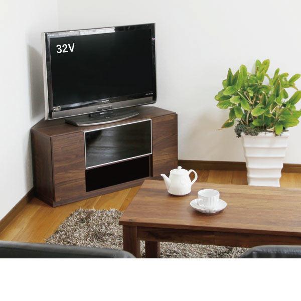 送料無料 90幅 ロータイプテレビボード コーナー ウォールナット 日本製 国産 TVボード テレビ台 引出し おしゃれ 北欧モダン シンプルデザイン 和風デザイン 90センチ