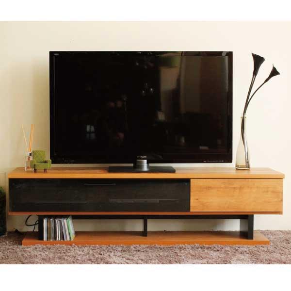 送料無料 160幅テレビボード ビンテージ調  多目的 ローボード 収納 テレビ台 日本製 国産 ナチュラル 東馬