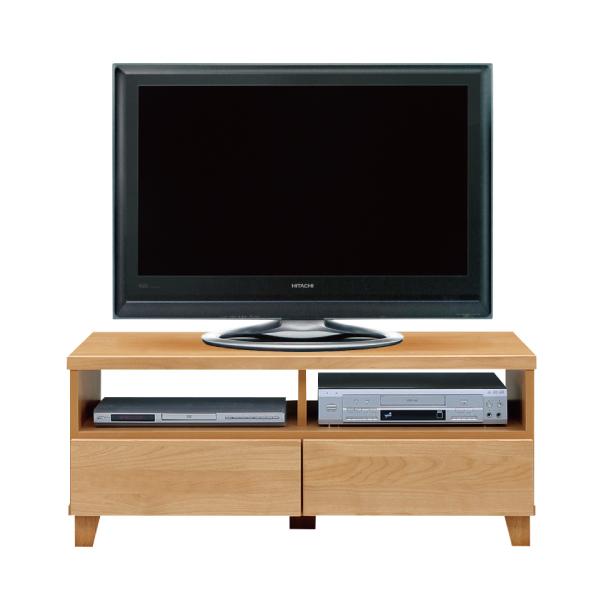 送料無料 105幅 テレビボード アルダー材 オイル塗装 日本製 国産 TVボード テレビ台 引出し
