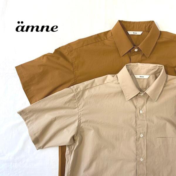 【20%OFF】メンズ/ amne 【アンヌ】 amn-SH-004 レギュラーカラー ハーフスリーブ シャツ【正規取扱】2020春夏