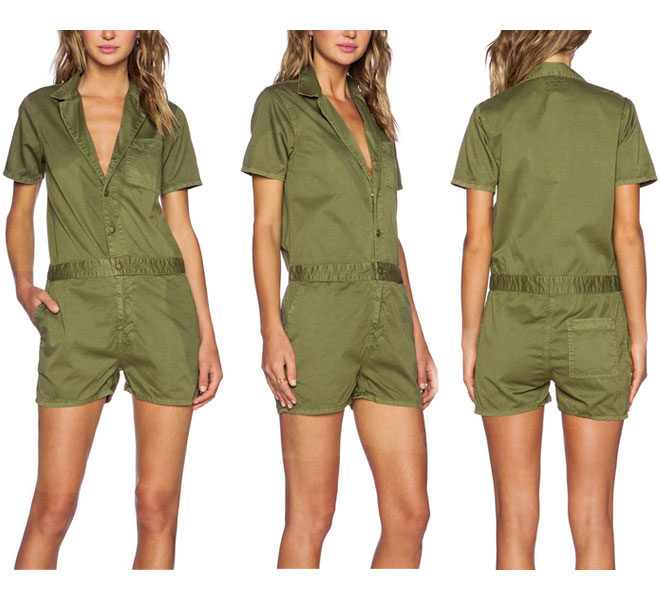 Bigapple Currentelliott Safari Style Army Shirt Romper Jumpsuit