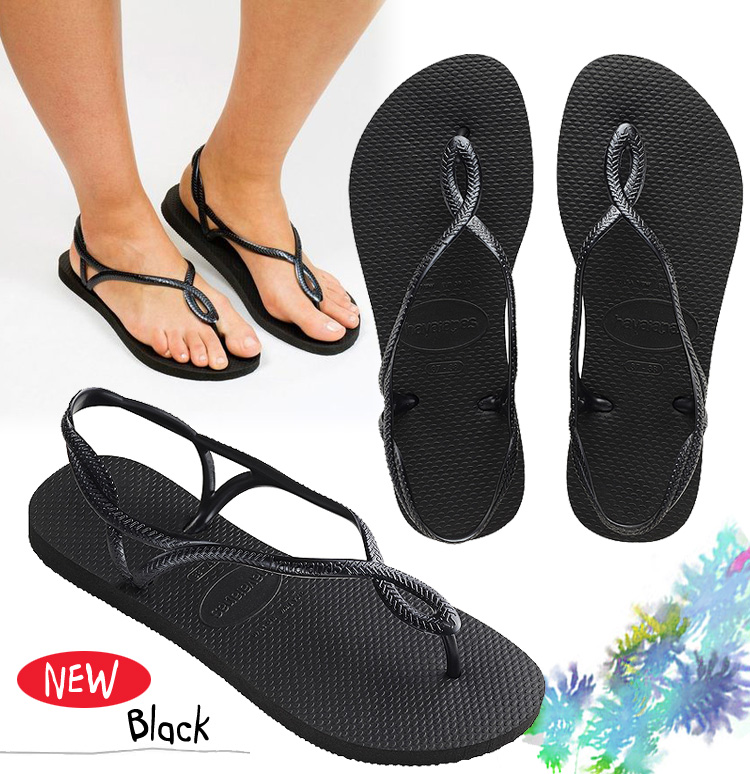 92d12e95f 4129697 for the navy Rose gold Coral black flat sandals Lady s woman  belonging to 50%OFF! Havaianas Hawaii holes LUNA luna beach sandal heel  strap