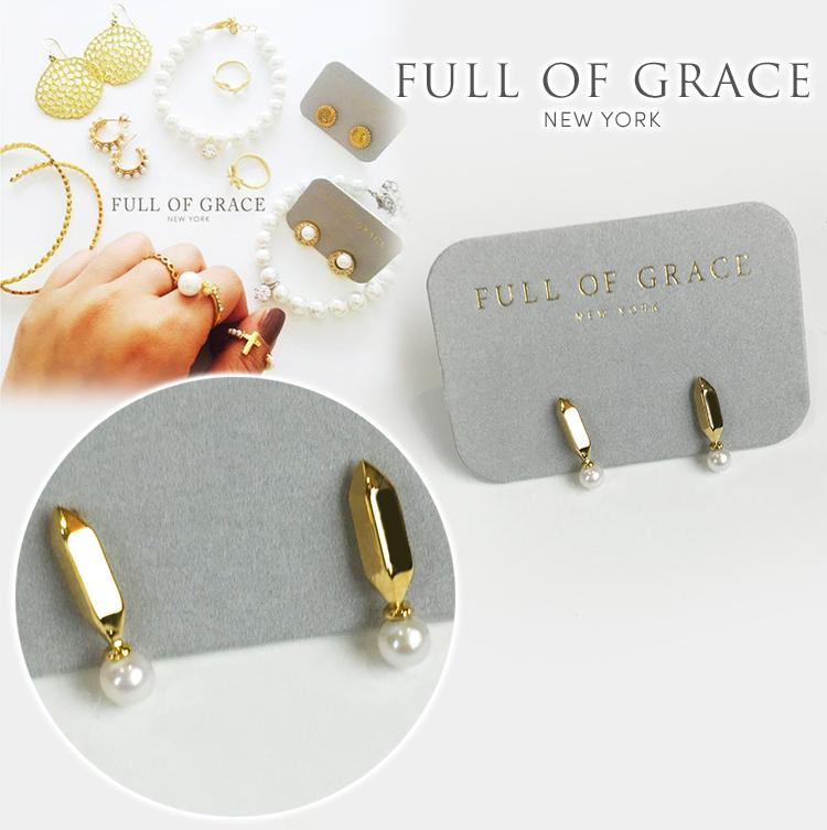 FULL OF GRACE フルオブグレース E165 淡水 パール イヤリング 真鍮 真珠 正規品 Chateaux Stud Earring E165