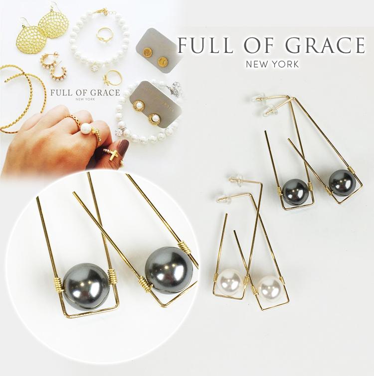 FULL OF GRACE フルオブグレース E192 パール イヤリング 真珠 正規品 Mer Pearl Earring E192