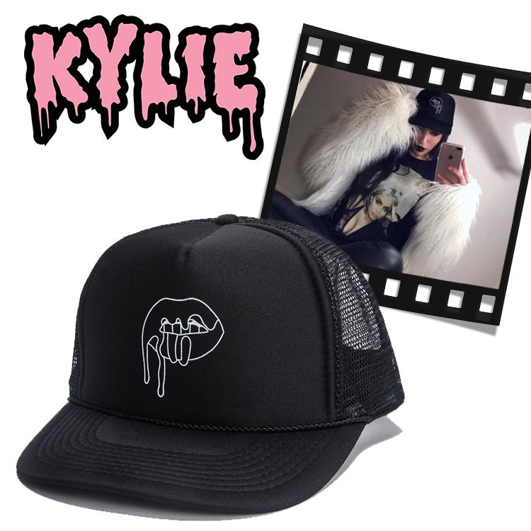 カイリージェナー CAP The Kylie Shop ザ カイリー ショップ Kylie Cosmetics ロゴキャップ HAT 帽子 トラッカーキャップ メッシュキャップ LIPS TRUCKER