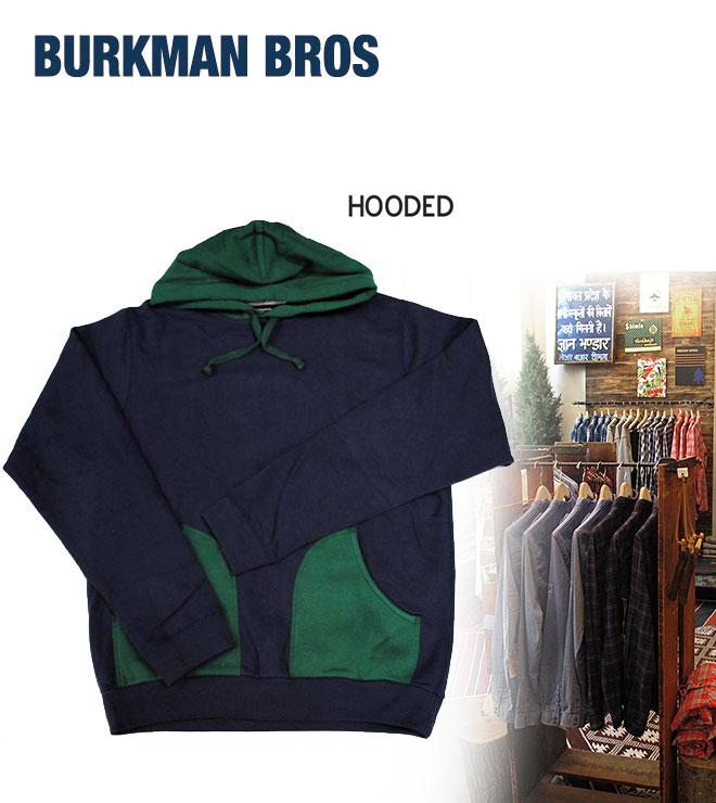【ラストワンセール!】BURKMAN BROS バークマンブラザーズ HOODED フーディー パーカー トップス プルオーバー メンズ BBRO-K6020A