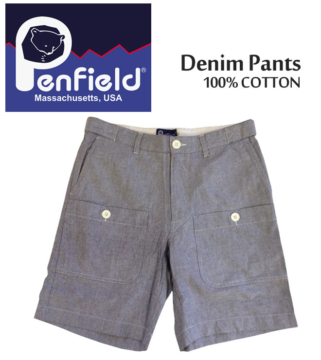 【3,000円ポッキリ!】PenField ペンフィールド ショーツ ショートパンツ Denim Pants デニム ハーフパンツ ボトムス メンズ 0039S11