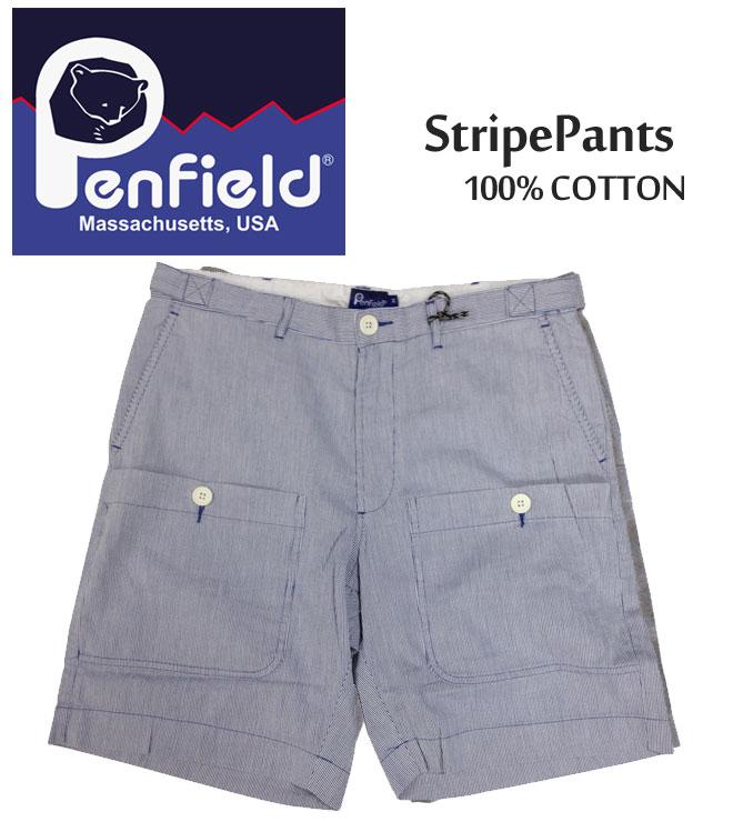 【3,000円ポッキリ!】PenField ペンフィールド ショーツ ショートパンツ Stripe Pants ストライプ ハーフパンツ ボトムス メンズ 0041S11