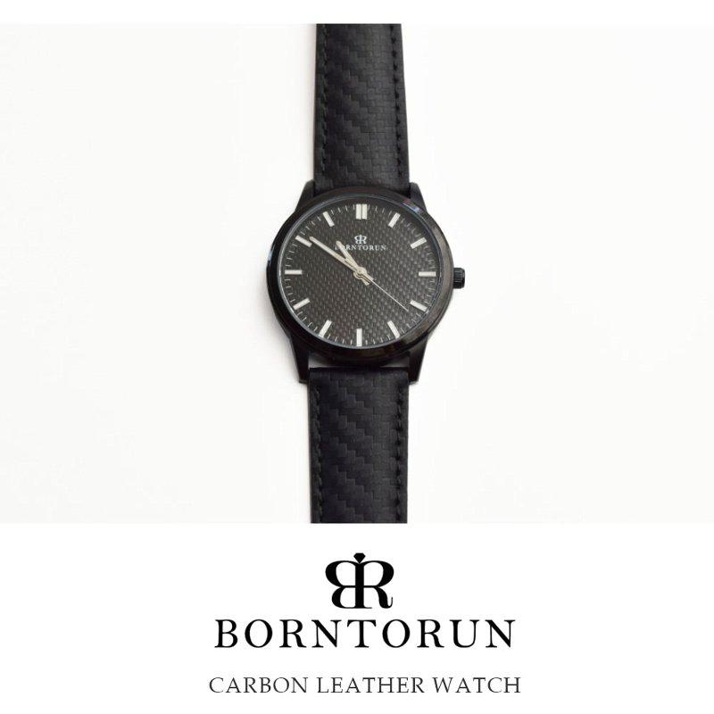 腕時計 メンズ ブランド 30メートル防水 ブラック メンズ BORN TO RUN【ラッキーシール対応】