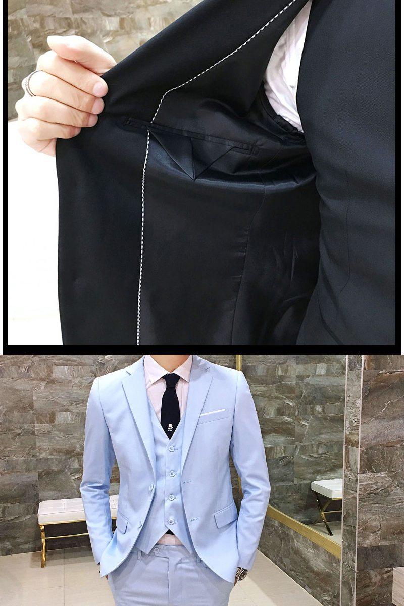 メンズ ピーススーツ スタイリッシュスーツ メンズスーツ 3点セット メンズスーツ スリム セットアップ 上下紳士服 リクルート 新社会人 メンズ 結婚式 二次会 入学式 卒業式【ラッキーシール対応】