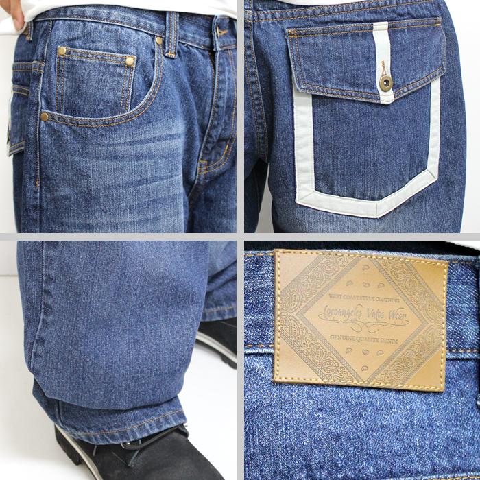 LOCOANGELES denim underwear jeans ■ color: Fashion of /b of /HIPHOP/ street of wash B origin origin origin