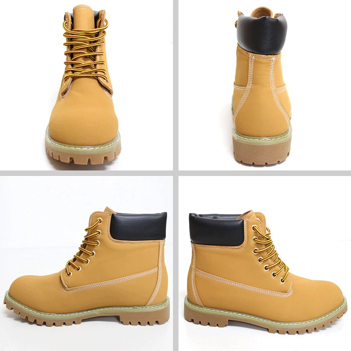 GOD &BLESS yellow boots mens / Womens ■ color: wheat (WHEAT)