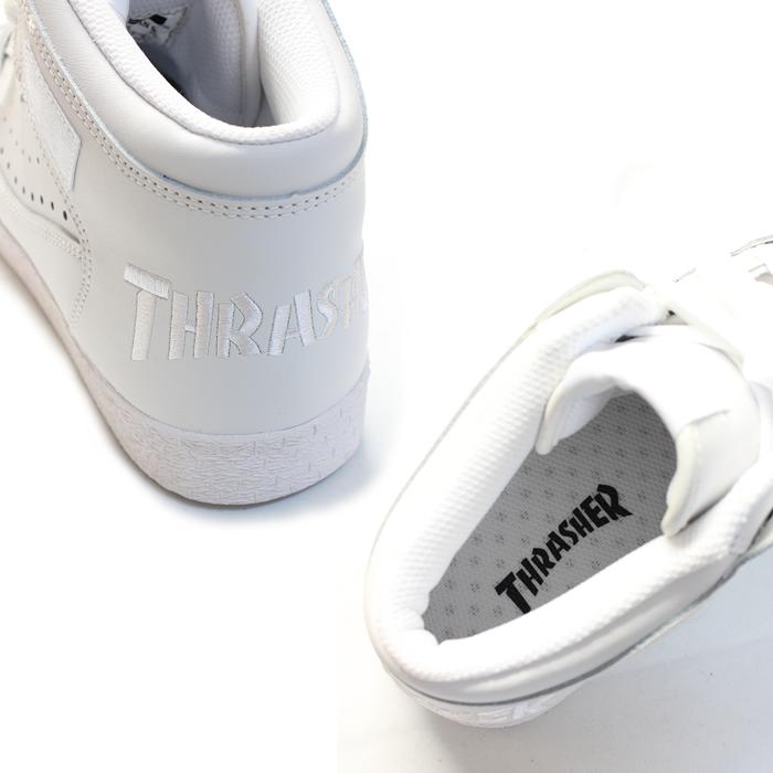 THRASHER 스랏샤 BUCHANAN DOG 브캐난좃그화이트/화이트 로고 TSBDL-140 WWL 맨즈/B계/패션/HIPHOP/스트리트계/구두(슈즈)/서퍼/skater/흰색