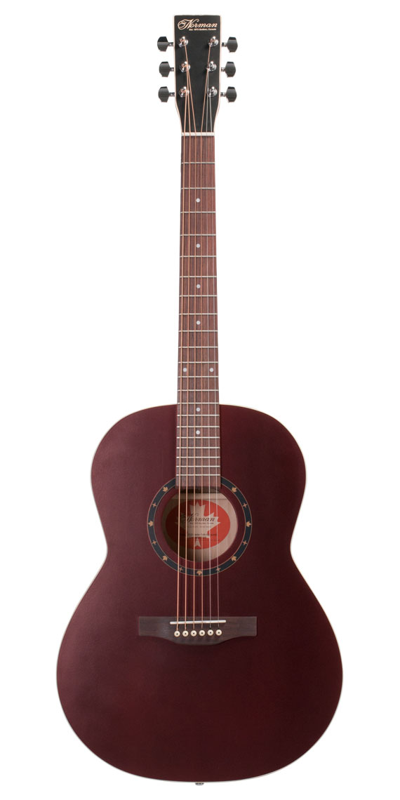 Norman Protege Series B18 Cedar FOLK Burgundy with Fishman Presys