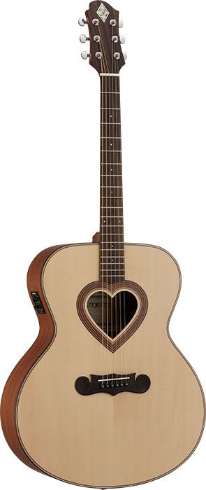 【エレアコギター】ZEMAITIS JUMBO CAJ-100HW-E