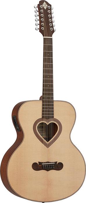 【12弦エレアコギター】ZEMAITIS JUMBO CAJ-100HW-12-E