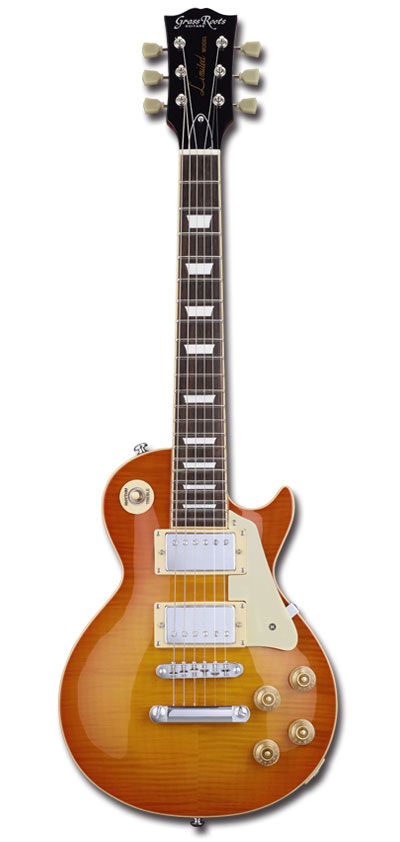 【ミニギター】GrassRoots G-LPS-MINI/2H / Vintage Honey Burst