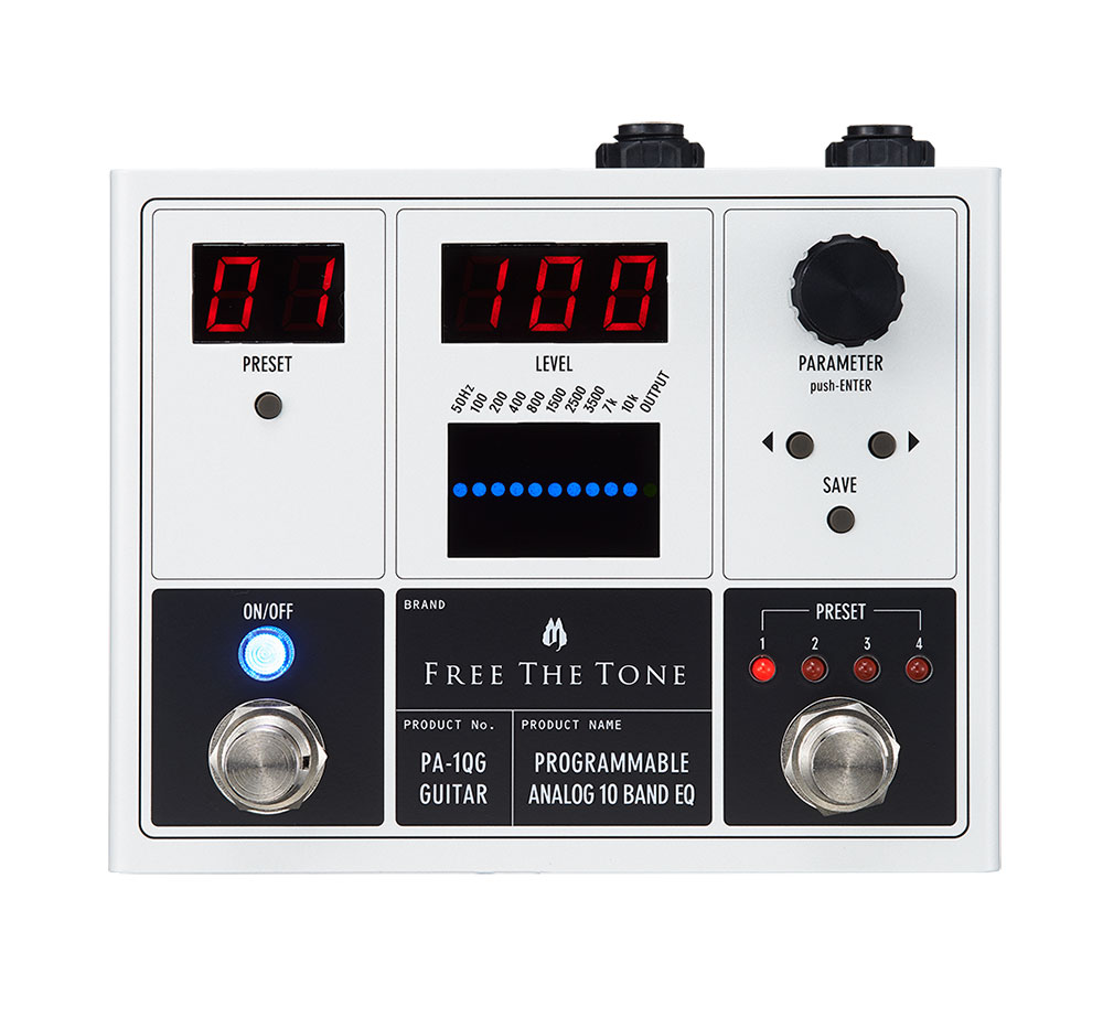 Free The Tone / PROGRAMMABLE ANALOG 10 BAND EQ / PA-1QG(ギター用)