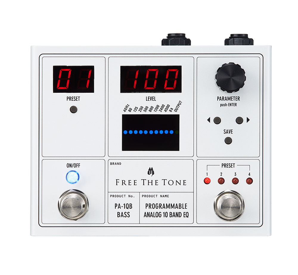 Free The Tone / PROGRAMMABLE ANALOG 10 BAND EQ / PA-1QB(ベース用)