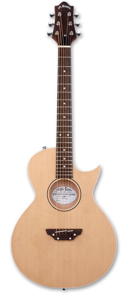 【スティール弦エレクトリックアコースティックギター】GrassRoots G-AC-50S / Natural Satin
