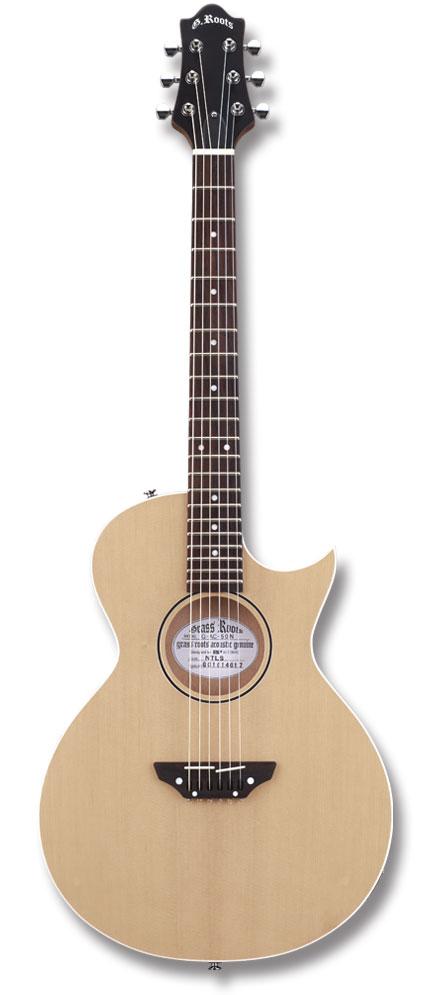【ナイロン弦エレクトリックアコースティックギター】GrassRoots G-AC-50N / Natural Satin