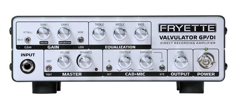 【新製品】FRYETTE VALVULATOR GP/DI [オールチューブアンプ/DI/ヘッドフォンアンプ]