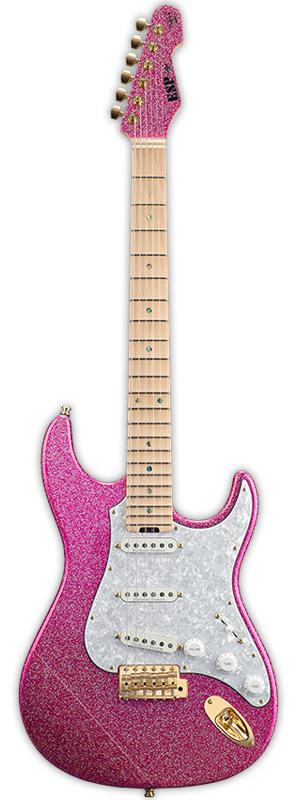 【受注生産】大村孝佳モデル ESP SNAPPER Ohmura Custom メイプル指板 Twinkle Pink