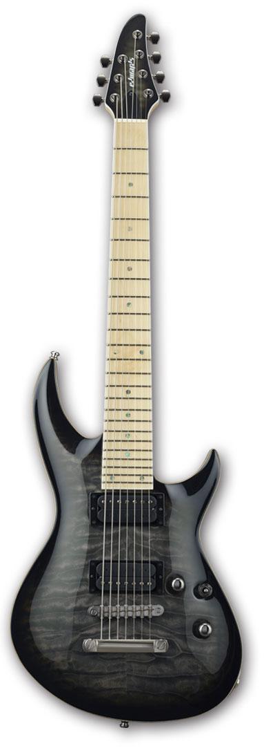 EDWARDS E-HR-III NT7 QM/M See Thru Black Sunburst [7弦][エドワーズ][ホライゾンタイプ][ノントレモロ][エレキギター][Seymour Duncan,ダンカンピックアップ[国産,MADE IN JAPAN]