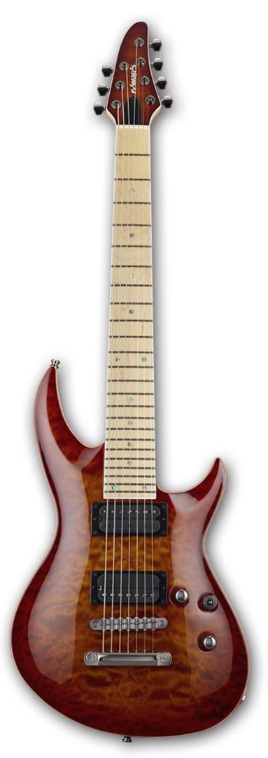 EDWARDS E-HR-III NT7 QM/M Antique Cherry Sunburst【7弦ギター】