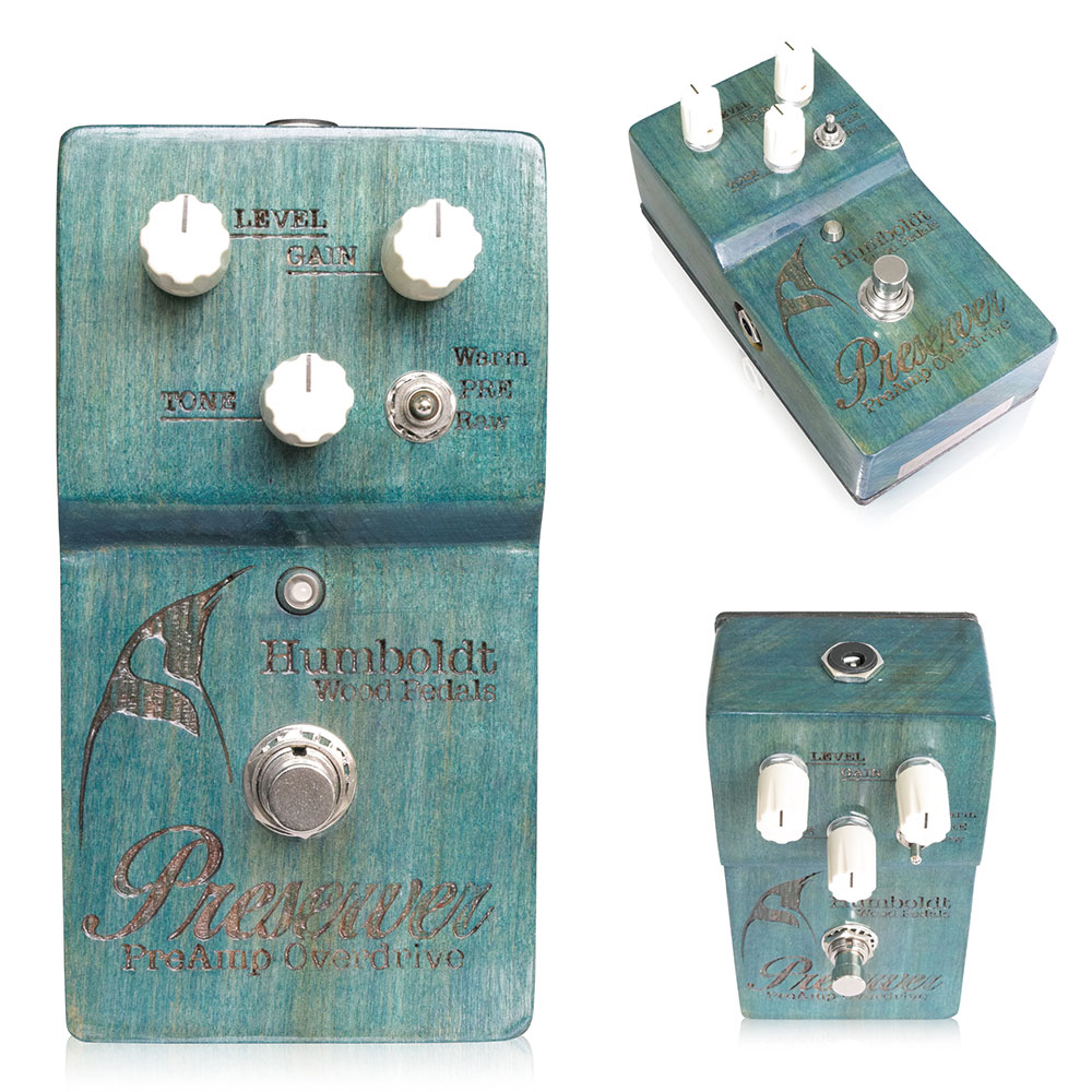 Humboldt Wood Pedals / Turquoise Blue