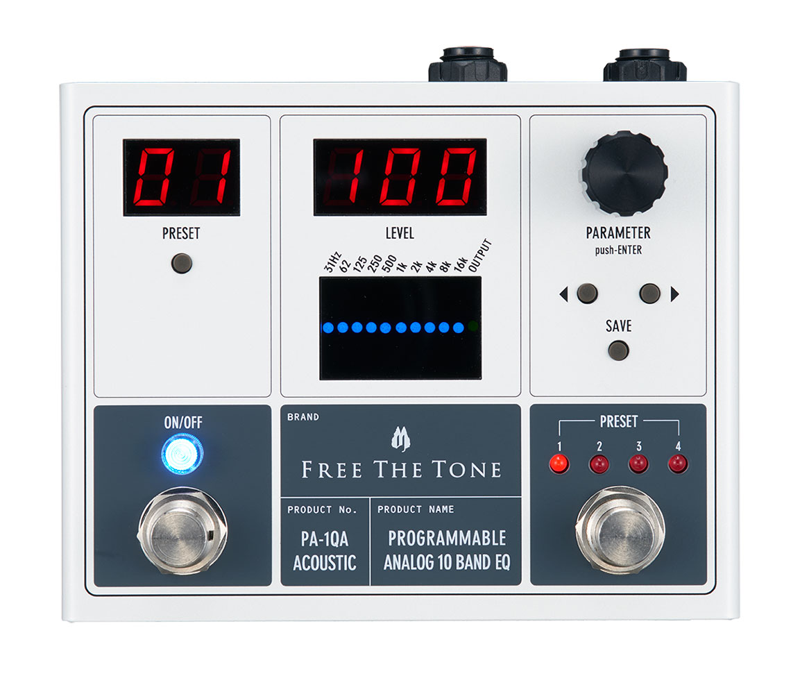 Free The Tone / PROGRAMMABLE ANALOG 10 BAND EQ PA-1QA(アコースティック用)