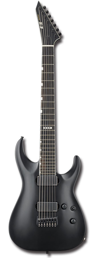 E-II HORIZON NT-7B HIPSHOT / Black Satin【7弦ギター】