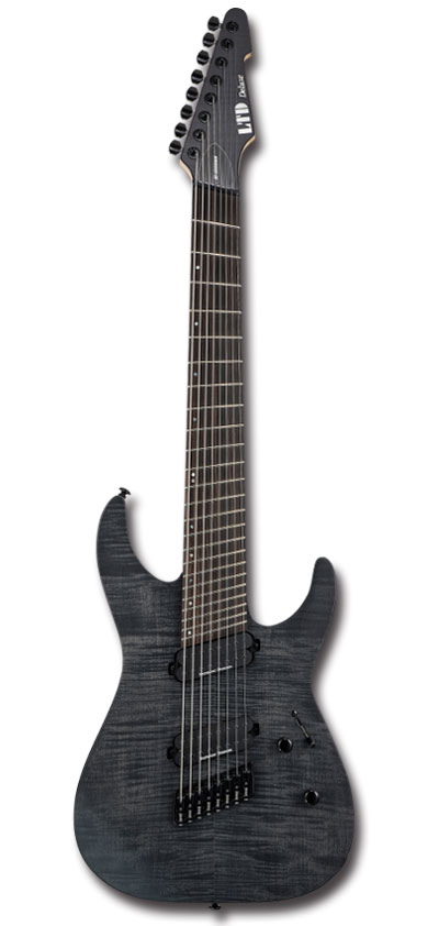 【新製品】【8弦ギター】LTD M-1008 Multi-Scale / See Thru Black Satin