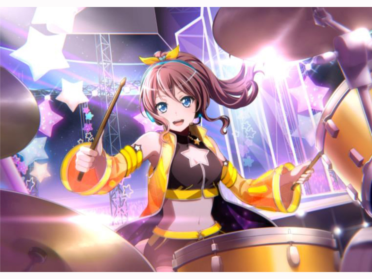 "【Poppin'Party】【BanG Dream!】【2018年秋(10~11月)発売予定】Pearl MCT1455S/C-SAYA ""山吹沙綾""Model Signature Snare Drum"