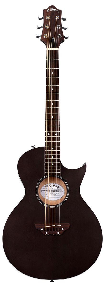 【受注生産3~4ヶ月】【スティール弦エレクトリックアコースティックギター】GrassRoots G-AC-50S / See Thru Black Satin