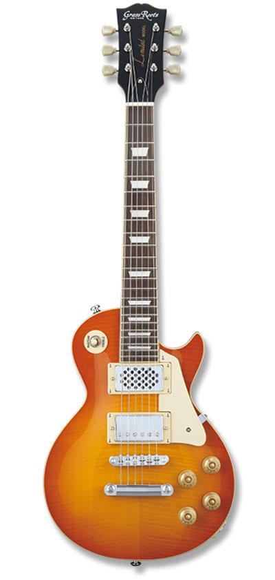 受注生産 ミニギター GrassRoots G-LPS-MINI Vintage 限定品 Honey SunBurst グラスルーツ アンプ内臓 LPタイプ 新品 ヴィンテージハニーサンバースト エレキギター Type LP